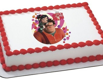 Wreck It Ralph Vanellope Edible Personalized Cake Topper Image | Short