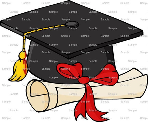 Graduation Cap & Diploma - Edible Cake and Cupcake Topper For Birthday's and Parties! - D5924