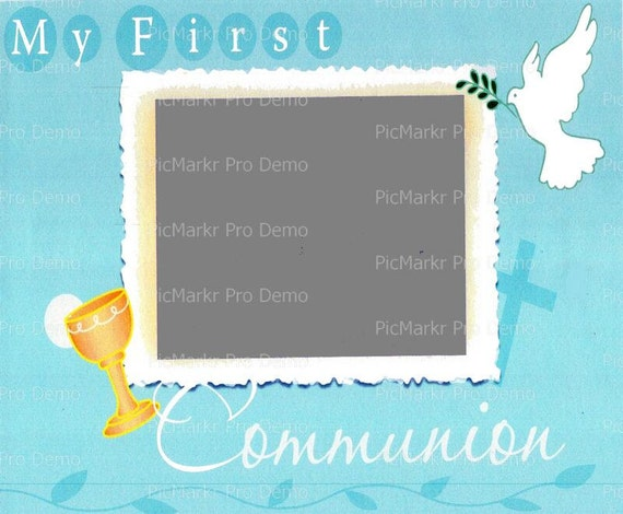 First Communion Religious - Edible Cake and Cupcake Photo Frame For Birthday's and Parties! - D4692