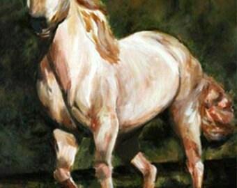 "Original Horse Fine Art Acrylic Painting 16 x 20"""