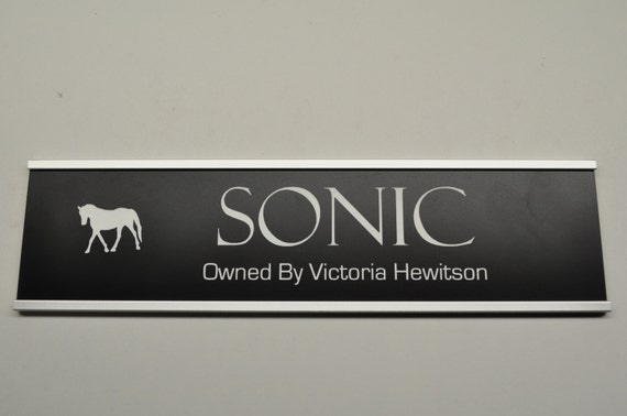 Horse Stall Name Plate by finnikilaser on Etsy