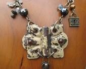 Antique Door Hinge Butterfly Necklace