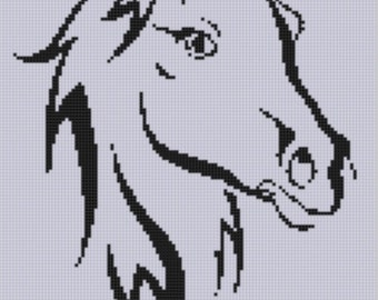 Horse Head 4 Cross Stitch Pattern