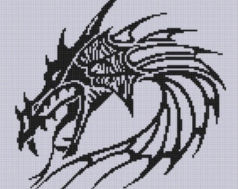 Dragon Head 3 Cross Stitch Pattern