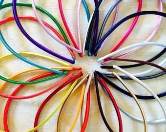 Add on hard headbands,satin headbands,you choose color headband,Alice band