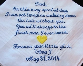 Personalized Wedding Handkerchief-Custom Father of the Bride