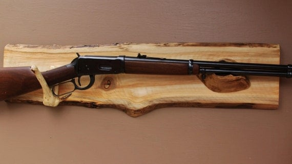 Long Gun Display Rack A-77 Aspen Backing with by ...