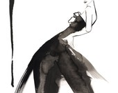 Dior Ball fashion illustration fine art limited edition print by Angie Rehe
