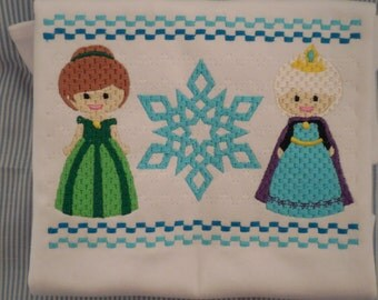 Frozen Elsa Anna Smocked Custom Tee Disney