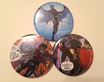 Wiccan/Billy Kaplan Comic Book Button 3 pack