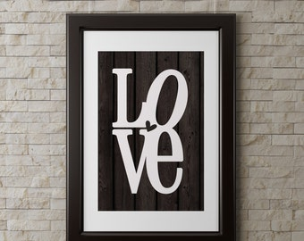 instant download love wall art 8x1o inch