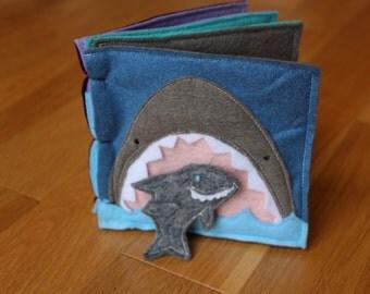 Personalized Felt Book - Where's Shark?!
