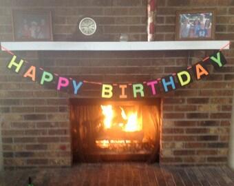 Neon Banner Happy Birthday!