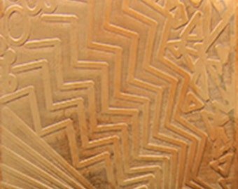 "Patterned Copper Sheet ""Multi Pattern"" 2"" x 6"" (choose 18 thru 24ga)  (CSP38XX)"