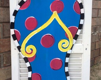 Flip Flop Door Hanger, Summer Door Hanger, Welcome Hanger, Wedding Gift, Birthday Gift