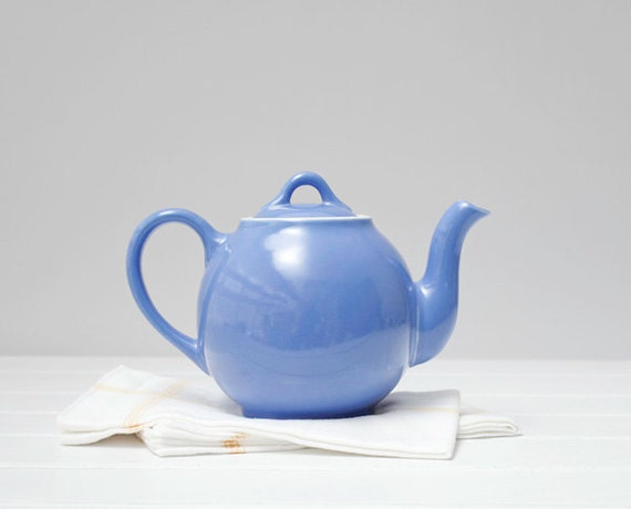 Blue Hall French Teapot Hall China Teapot Vintage Ceramic