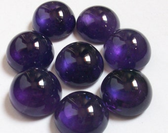 1 pieces 15mm AMETHYST Cabochon Round Gemstone, beautiful color, Natural Amethyst Round Cabochon Gemstone, Amethyst Cabochon Round