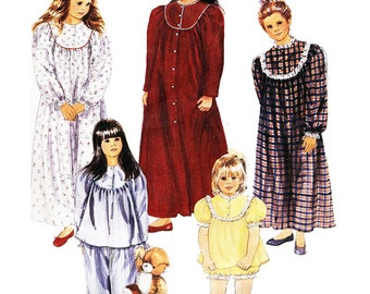 McCall's Sewing Pattern 5673 Girls' Sleepwear, Robe, Nightgown  Size:  2-4  Used