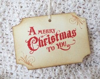 Merry Christmas gift tags, Merry Christmas Tags, Happy Holiday Tags, Merry Christmas favor tags, Merry Christmas hang tags