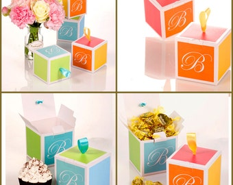 Gift box  : Small  10 sets(boxes, ribbon)  B gift box, wedding gift box, engagement gift box, birthday gift box