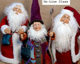 An Online Class: Santa Playshop with Maureen Carlson available until Dec. 31, 2017. Support materials include links to on-line Videos
