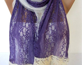 NEW--Lace Scarf- Fashion Scarf-  Shawls-Scarves-Gift Scarf-Shawl-Christmas Gift