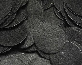 """Black Felt Circle 2"""" inch - DIY craft felts - bulk felt circles - felt for headbands and flowers"""