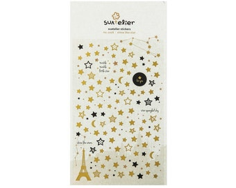 Shine Gold Star Diary Deco Sticker / 1026 / 101073153