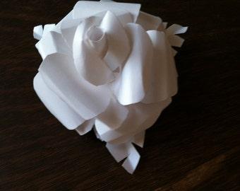 "White Paper Roses - 6""  -  One Dozen (12)"