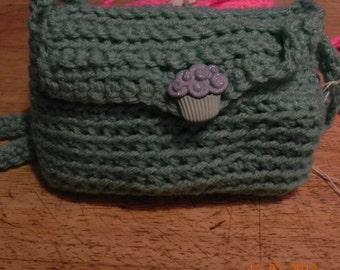 Green little girl purse