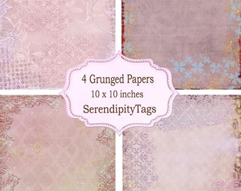 Four Grunged Papers