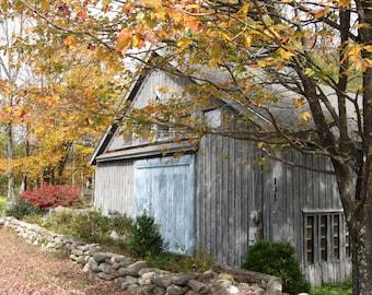 Art Photography, Barn Art, Old Barn, Instant Download, Blue Door Barn,  Photo Art, Digital Art, Portrait of Old Barn, Quality Print