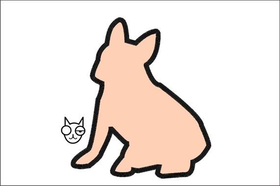 Bulldog Silhouette Applique Sizes Silhouette Applique