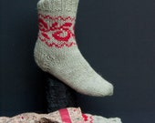 Hand knitted womens socks-- 100% Wool!