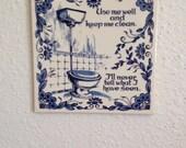 Vintage Bathroom Wall Hanging
