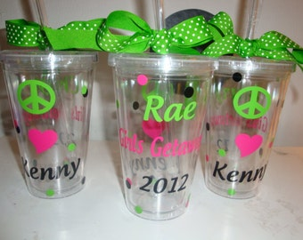 Peace Love Kenny tumbler - personalized