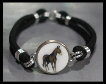 MULE Silhouette Dime Stretch Bracelet - One size fits most - Made In USA