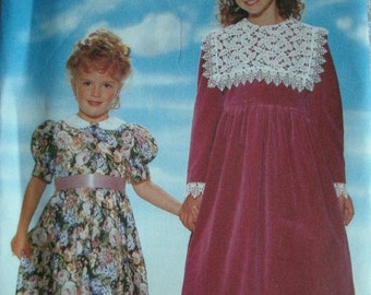 Girls Party Dress Girls Size 2-3-4-5-6 Butterick Pattern 4220 Rated Easy to Sew  UNCUT Pattern 1995