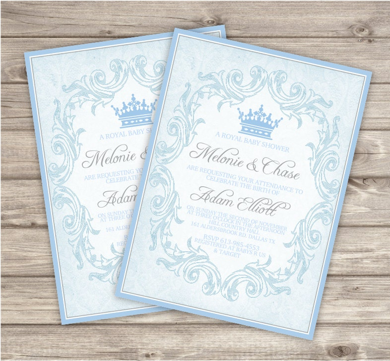 prince royal baby shower invitations printable by offspringtrendz
