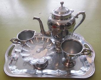 Vintage Farber 5 Piece Silverplate Tea Set