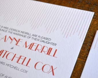 Stylish Patina - Letterpress Wedding Invitation