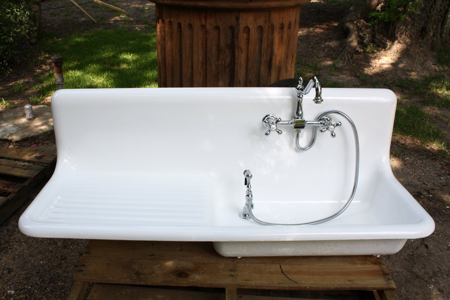 1927 Am Standard Cast Iron Kitchen Farm Sink 54 X 20 By