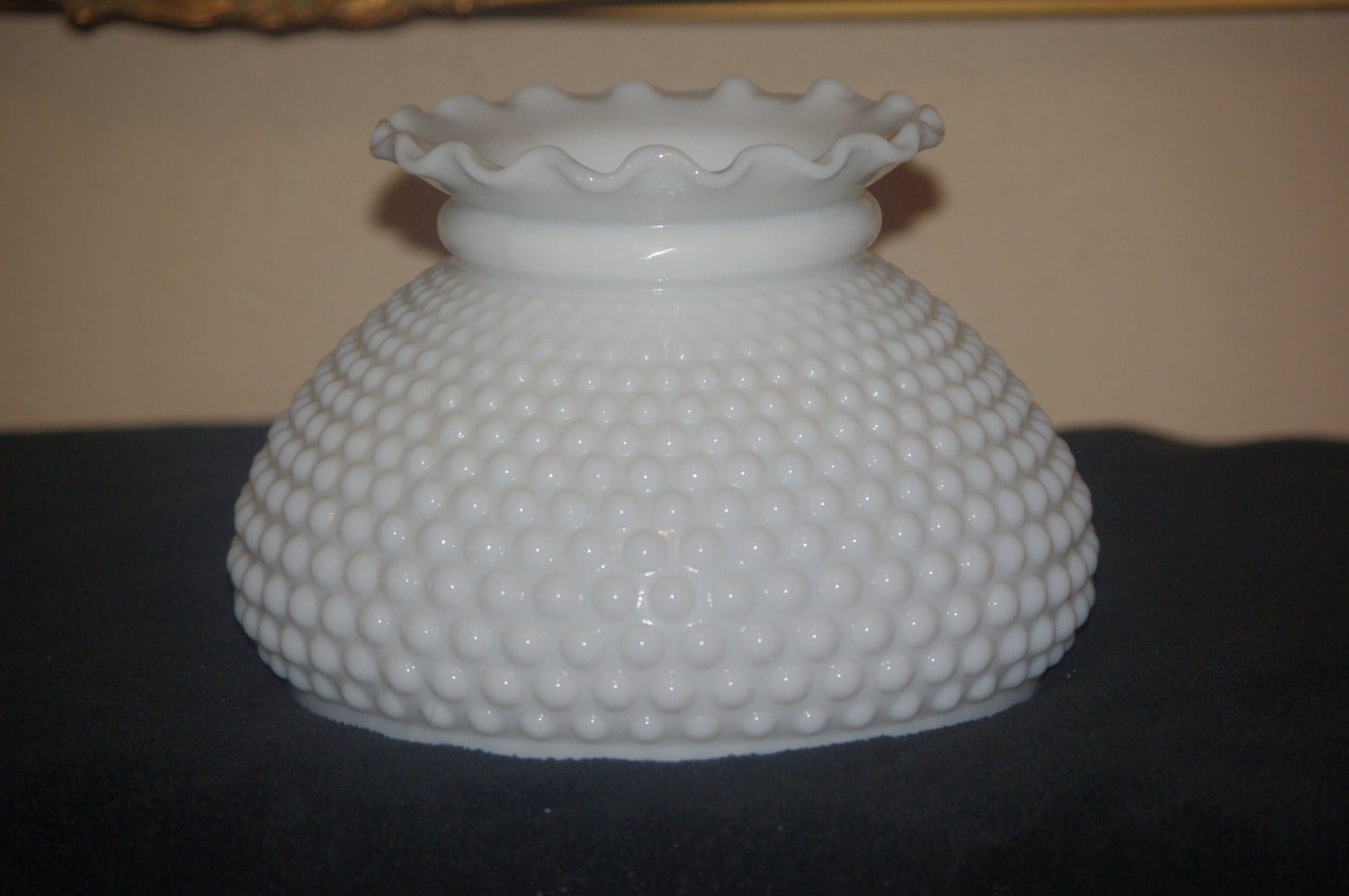 Vintage White Milk Glass Hobnail Lamp Shade Gone With The Wind