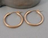 Rose Gold Hoops,Hoop,Earring,Earrings,Rose Gold Earrings,Rose Gold,Gold Filled,Rose Gold Hoops,Rose Gold Circle, Earrings.SeaMaidenJewelry