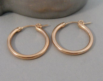 Rose Gold Hoops,Hoop,Earring,Earrings,Rose Gold Earrings,Rose Gold,Gold Filled,Rose Gold Hoops,Rose Gold Circle, Earrings.SeaMaidenJewelry