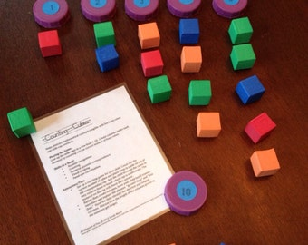 Preschool Busy Bag: Counting Cubes
