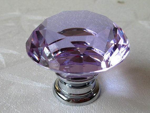 Purple Glass Drawer Knobs Uk Glass drawer knobs Etsy Lavender