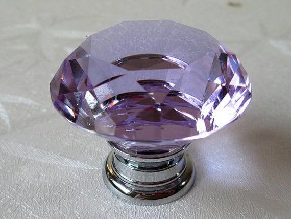 Lavender Glass Knobs Dresser Knobs Drawer Knobs Pulls