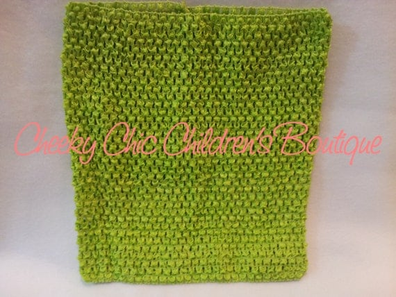 10x9 inch APPLE / Lime Crochet Tutu Dress Tube Top [CB10AP]