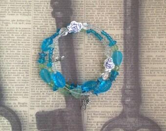 Ocean Wire Wrap Bracelet